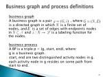 business graph and process definitions
