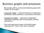 business graphs and processes