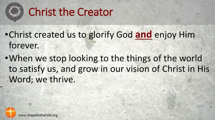 Christ the Creator