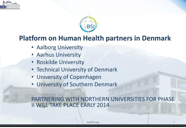 Platform on Human Health partners in Denmark