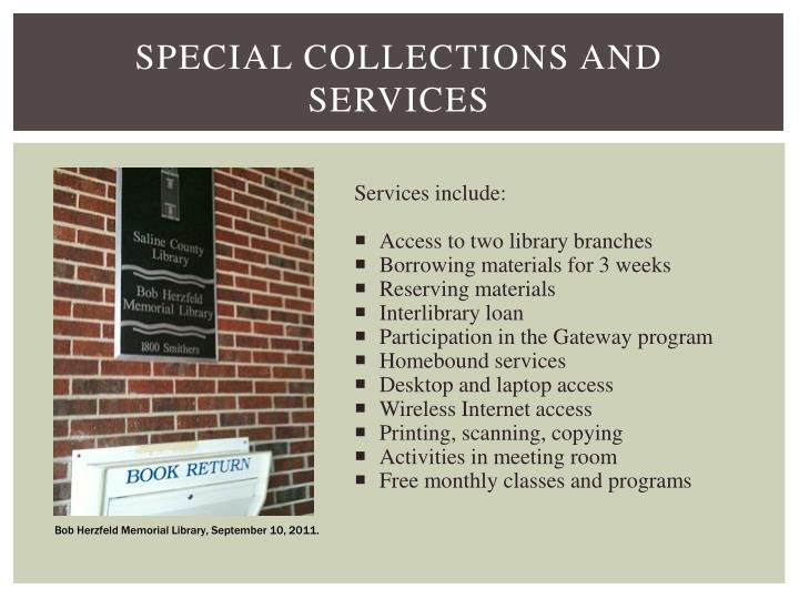 Special Collections and services