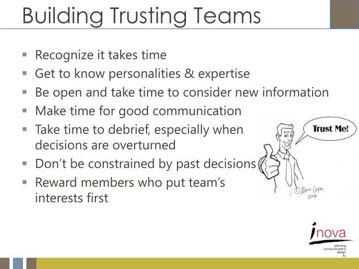 Building Trusting Teams
