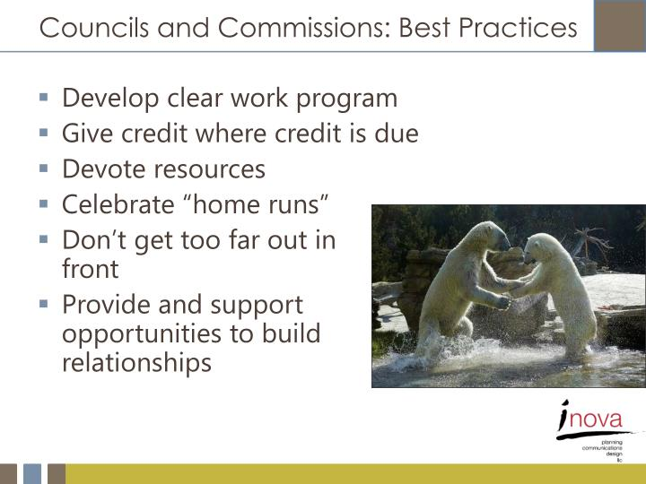 Councils and Commissions: Best Practices