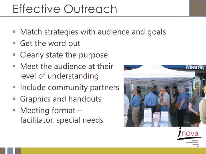 Effective Outreach