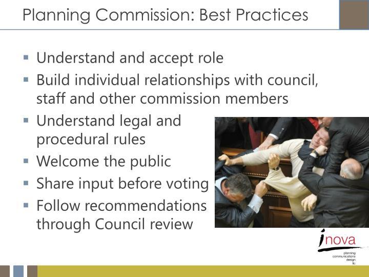 Planning Commission: Best Practices