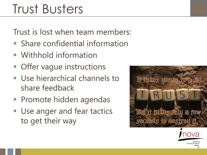 Trust Busters