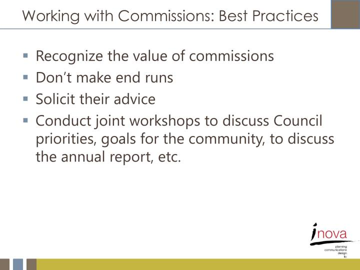 Working with Commissions: Best Practices
