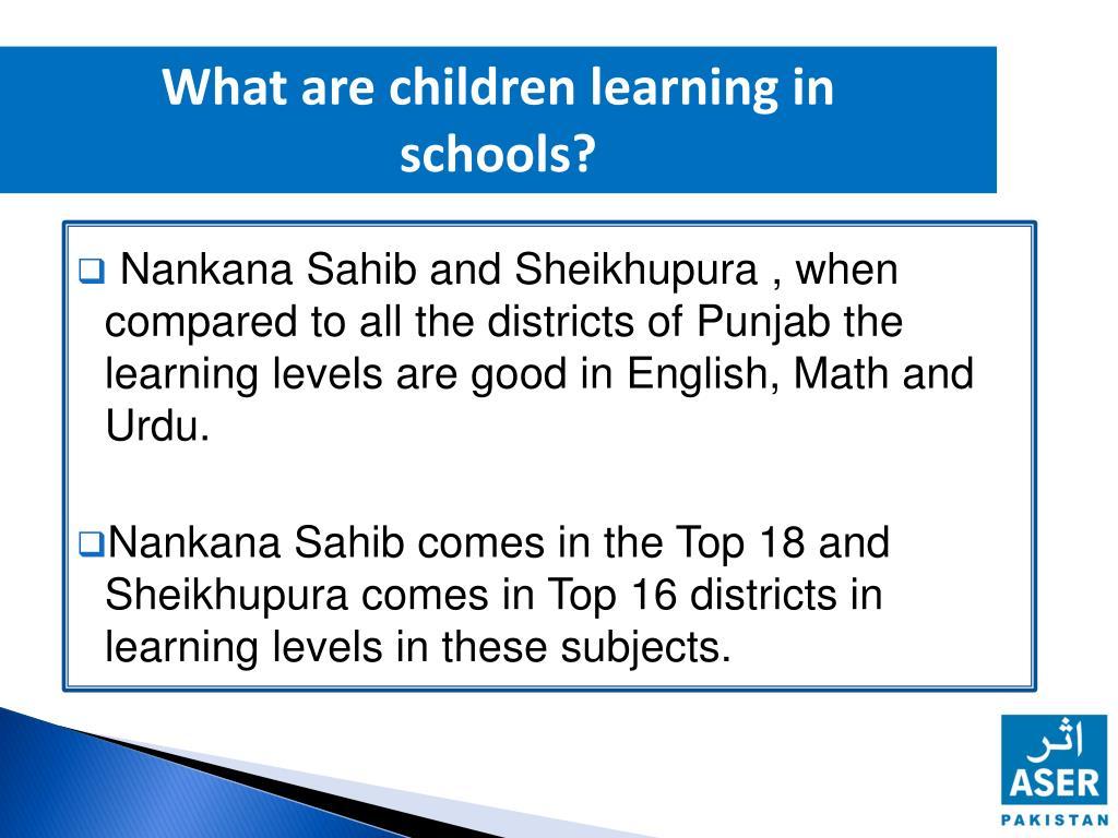 PPT - Nankana Sahib & Sheikhupura 25 -02-2013 PowerPoint