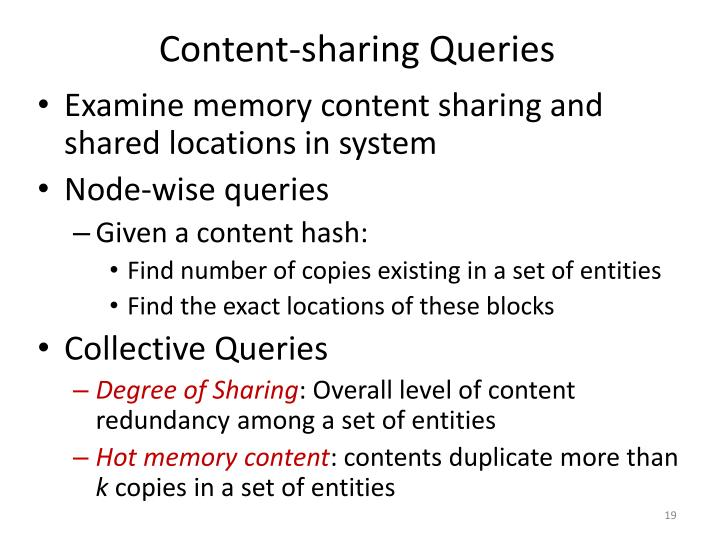 Content-sharing Queries