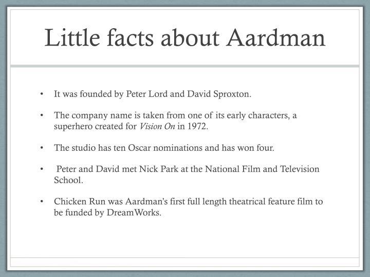 Little facts about Aardman