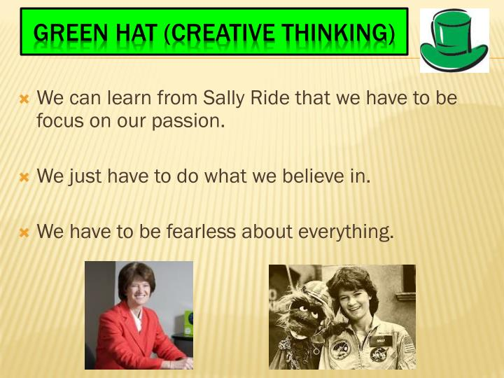 ppt - six thinking hats of my explorer sally ride powerpoint, Presentation templates