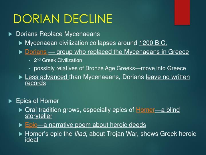 DORIAN DECLINE