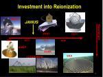 investment into reionization