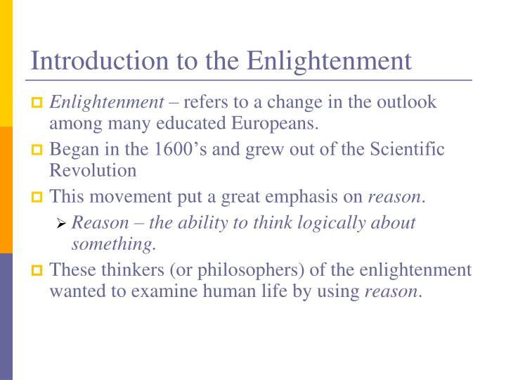 Introduction to the Enlightenment