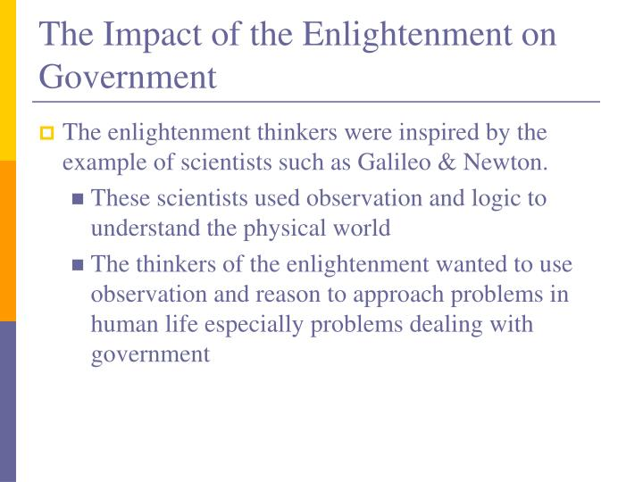 The Impact of the Enlightenment on Government