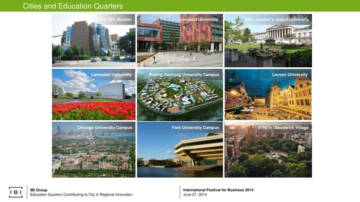 Cities and Education Quarters