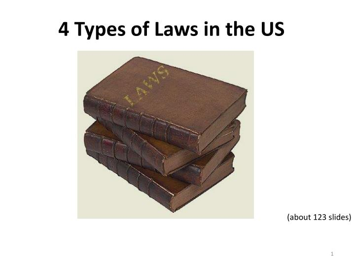 4 types of laws in the us n.