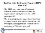 qualified entity certification program qecp what it is