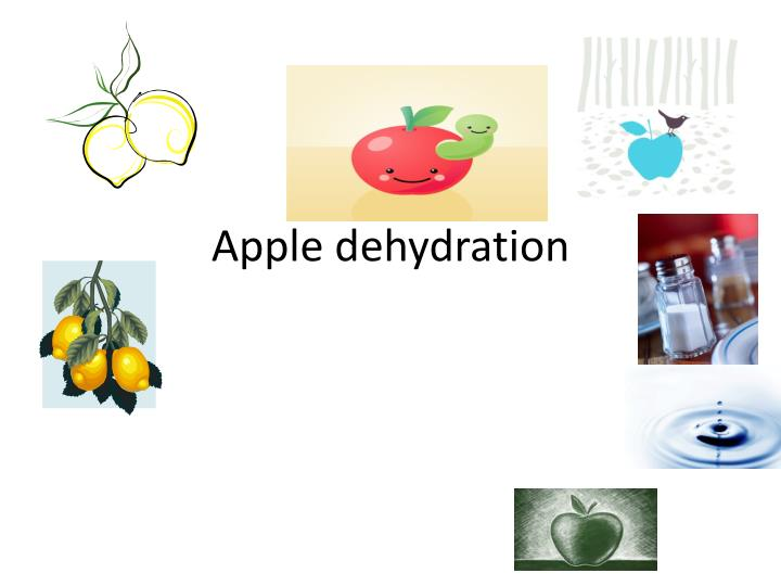 Apple dehydration