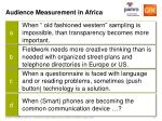 audience measurement in africa