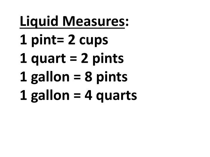 Liquid Measures
