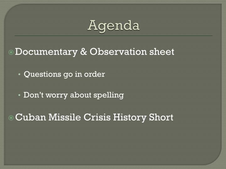 cuban missile crisis and cold war assignment essay