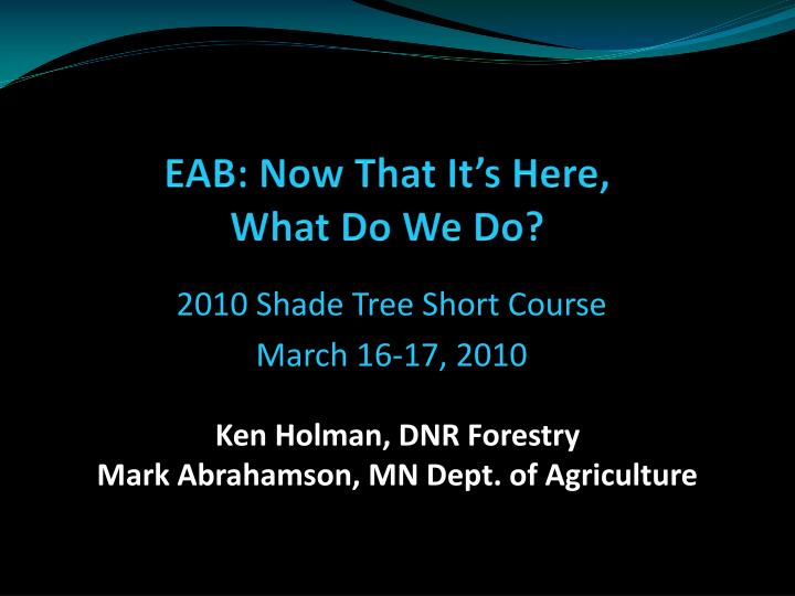 eab now that it s here what do we do n.