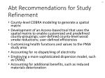 abt recommendations for study refinement