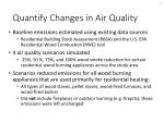 quantify changes in air quality