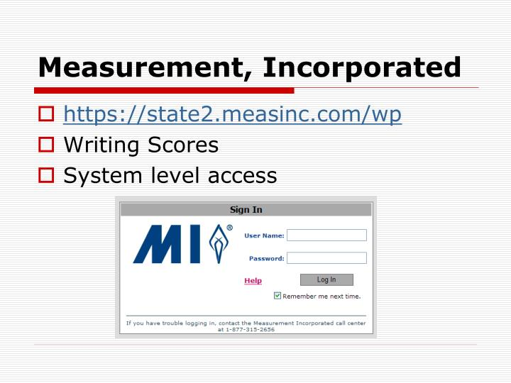 Measurement, Incorporated