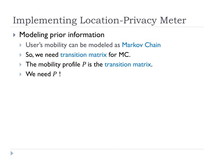 Implementing Location-Privacy Meter