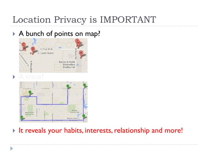 Location Privacy is IMPORTANT