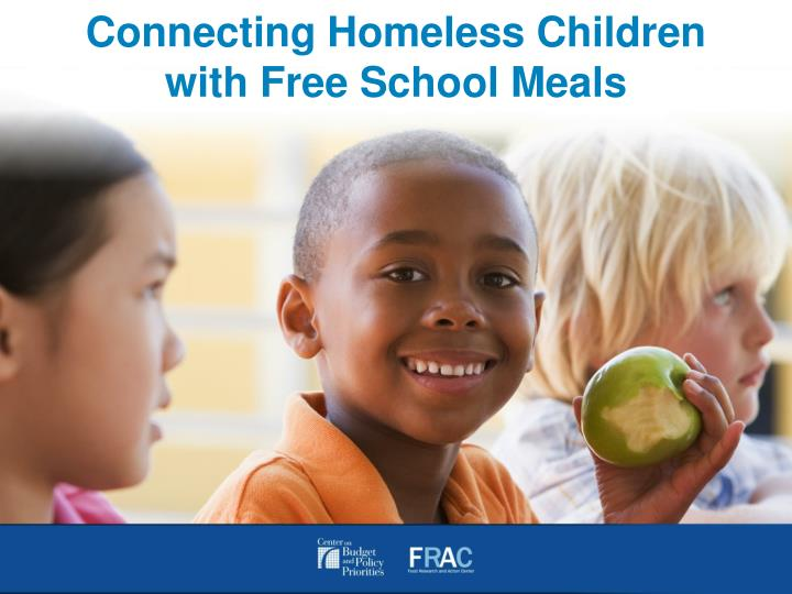 connecting homeless children with free school meals