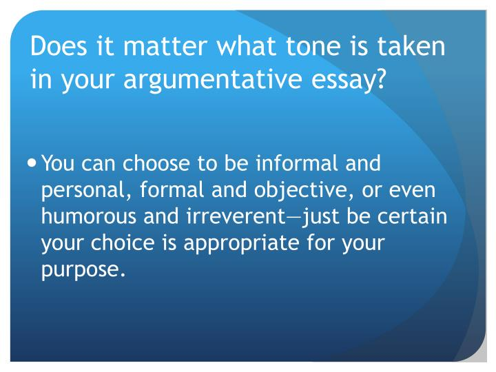 five features of argumentative essay Persuasive essay rubric directions: create a five paragraph persuasive essay with a proper introductory paragraph, body with main points and.