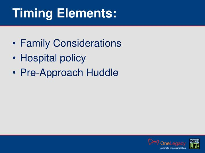 Timing Elements: