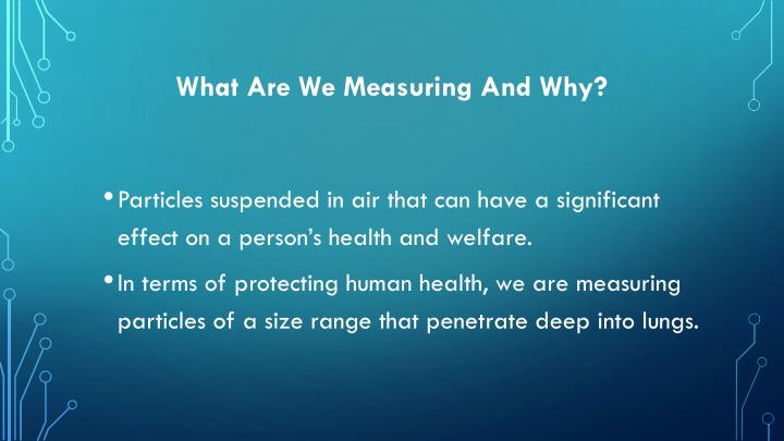 What are we measuring and why