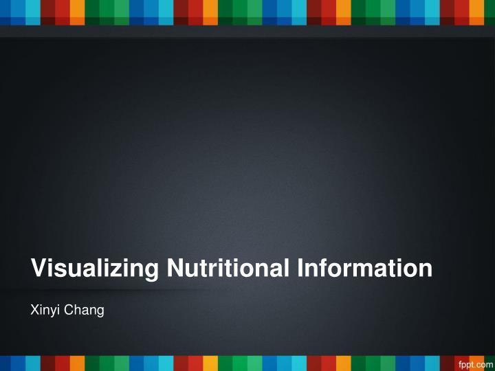 visualizing nutritional information n.