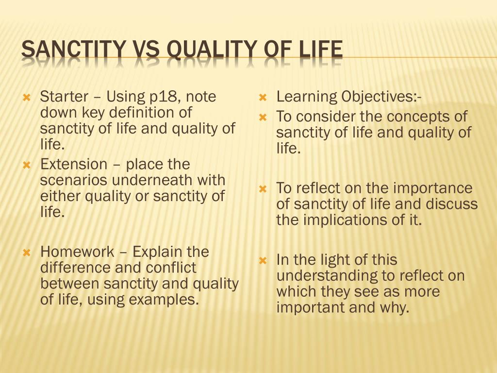 ppt - sanctity vs quality of life powerpoint presentation - id:2579257