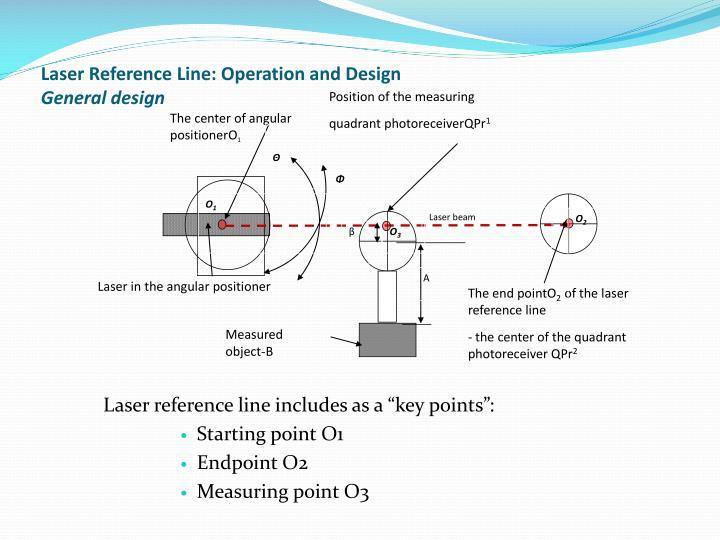 Laser reference line operation and design general design