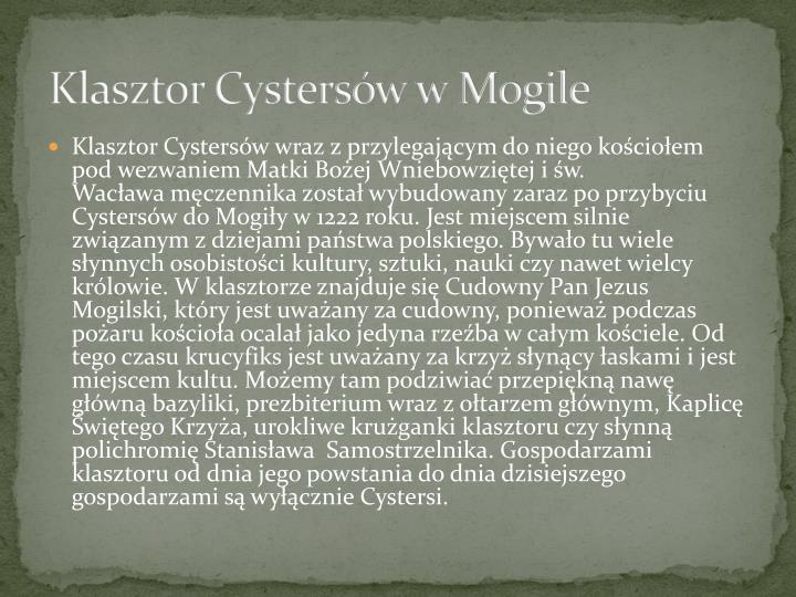 Klasztor Cystersów w Mogile