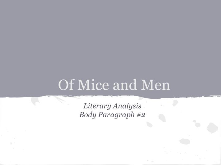 crooks analysis of mice and me Of mice and men: character profiles, free study guides and book notes including comprehensive chapter analysis, complete summary analysis  crooks: called such.