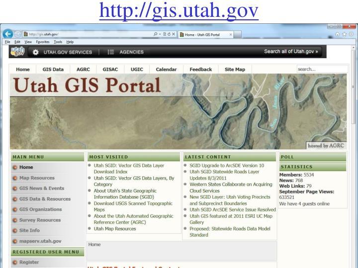 http://gis.utah.gov