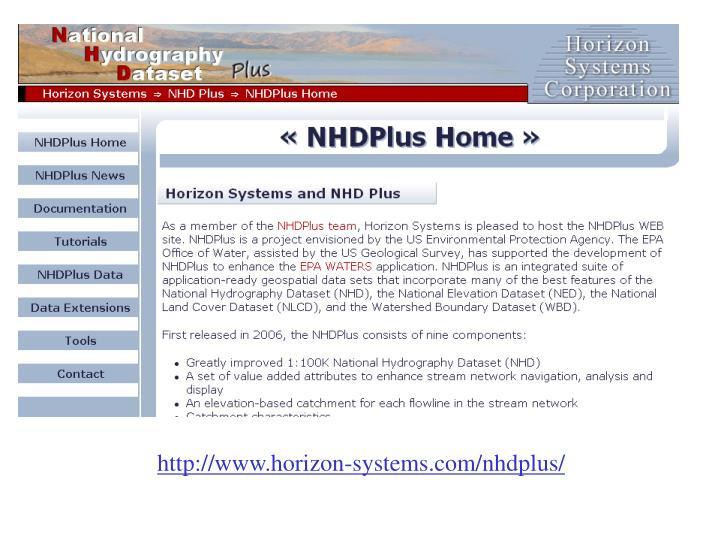 http://www.horizon-systems.com/nhdplus