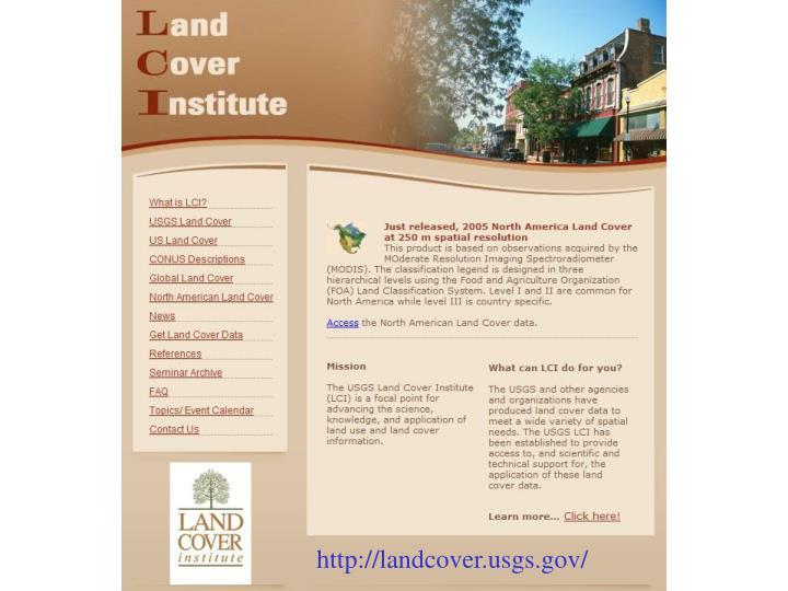 http://landcover.usgs.gov