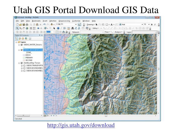Utah GIS Portal Download GIS Data