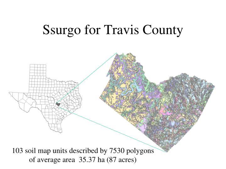 Ssurgo for Travis County