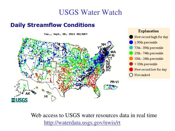 USGS Water Watch