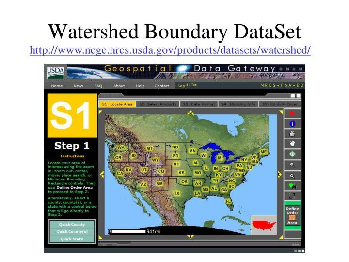Watershed Boundary DataSet