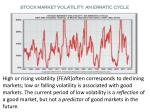 stock market volatility an erratic cycle