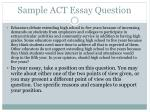 sample act essay question